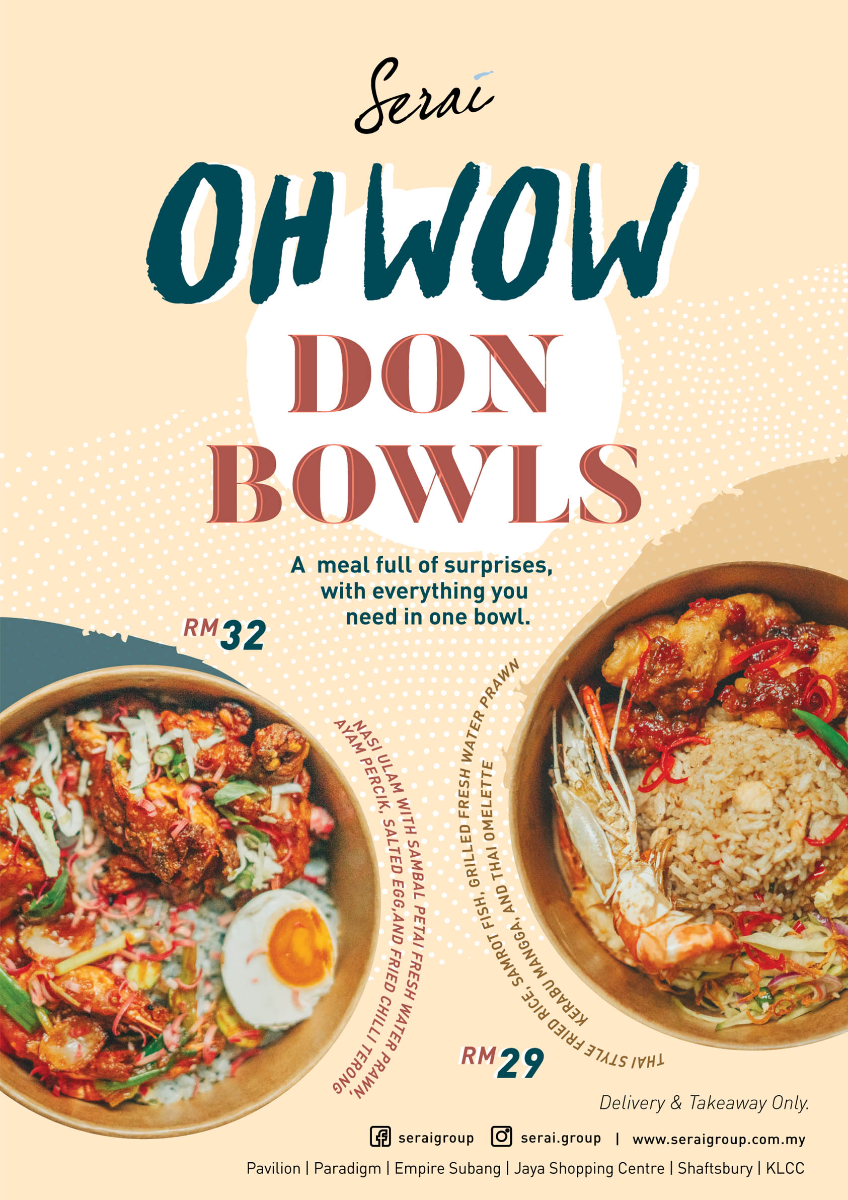 serai group pokebowl provides catering in malaysia